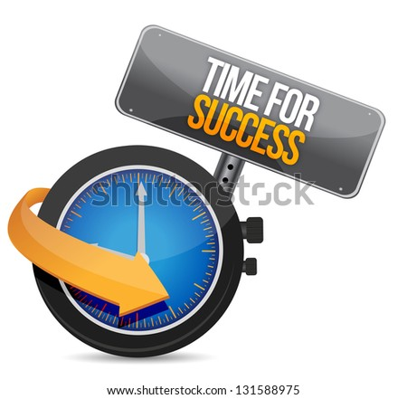 Time for Success illustration design over a white background - stock photo