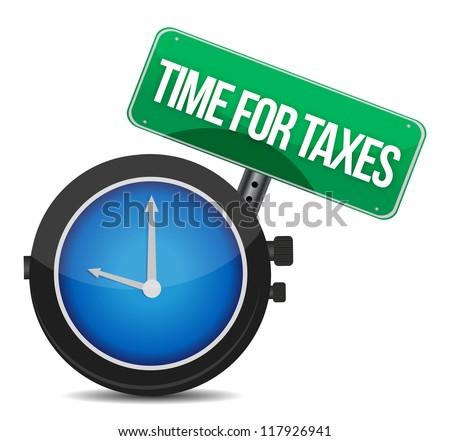 time for taxes illustration design over white - stock photo