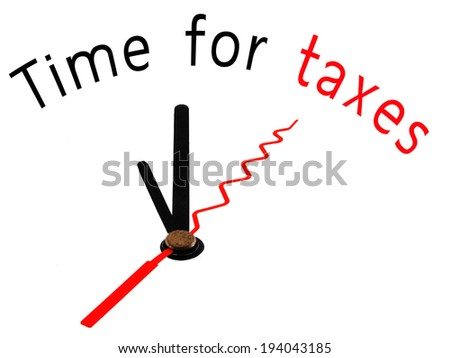 Time for Taxes with clock concept - stock photo