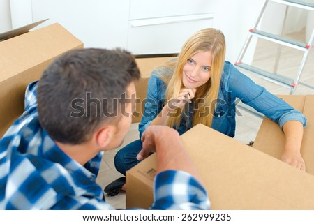 Time for the big move - stock photo
