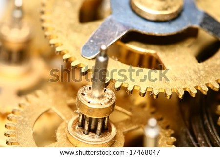 time gear - stock photo