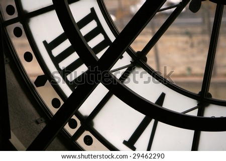 Time in Paris, the famous clock, interior side.
