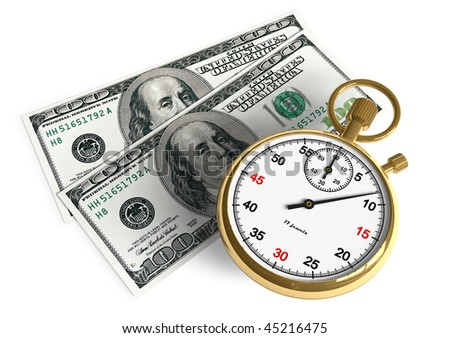 Time is money - stock photo