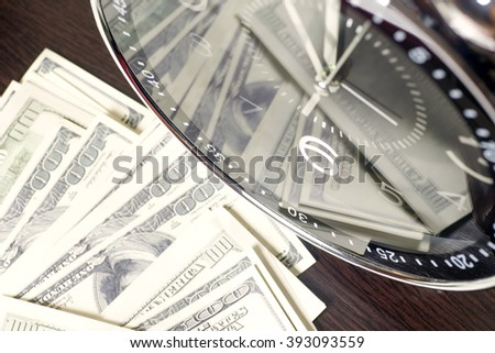 time is money and wealth. concept of time and money - stock photo
