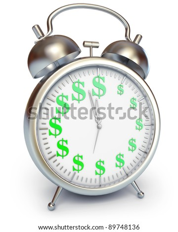 Time is money, 3d render - stock photo