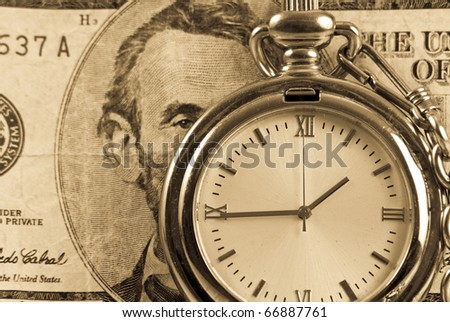 Time is Money Investment Concept - stock photo