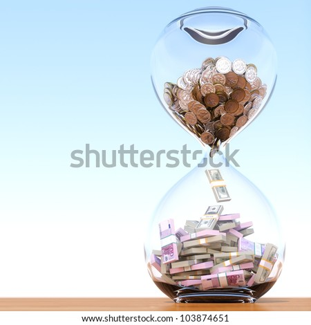 time is money (version with the right composition) - stock photo