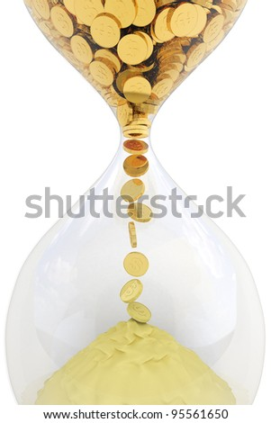 Time is money. Waste time concept - stock photo