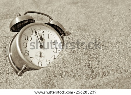 time is short  - illustration based on own photo image - stock photo