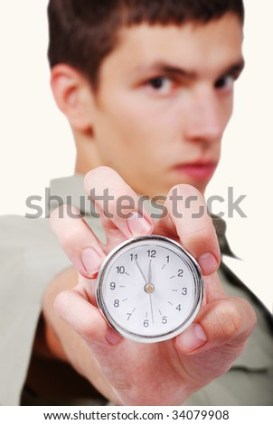 Time is up the last moment for you - stock photo