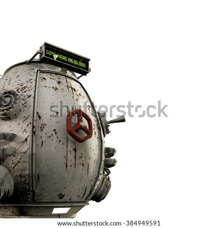 time machine isolated on white background - stock photo
