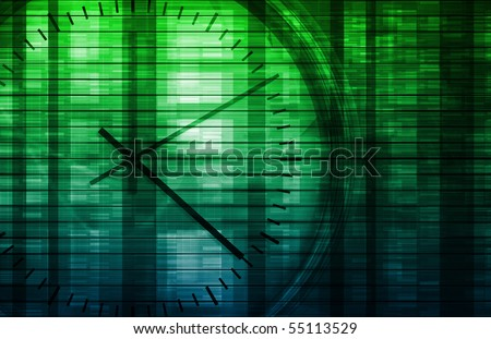 Time Management Concept as a Abstract Background - stock photo