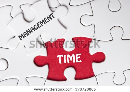 Time management.  Missing Piece Jigsaw Puzzle with word - stock photo