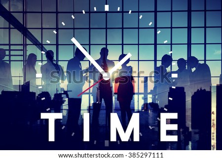 Time Management Punctual Duration Schedule Concept - stock photo