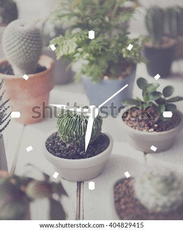 Time Minute Alarm Duration Hour Schedule Concept - stock photo