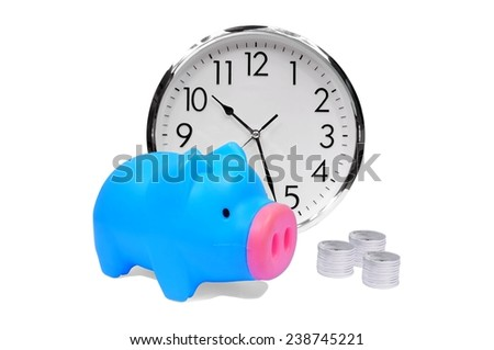time money savings finance concept - stock photo