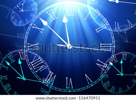 Time Passing Background - stock photo