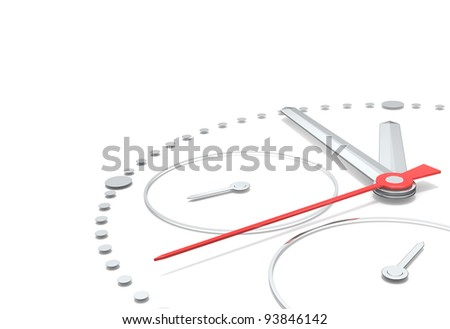 Time. Perspective view of a chronograph clock.