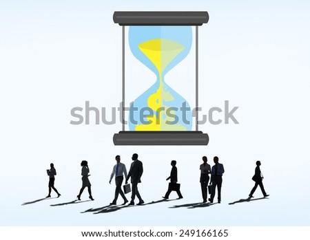 Time Sand Glass Hour Glass Finance Saving Concept - stock photo