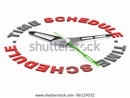 time schedule planning tasks in agenda setting goals and organize the day or meeting appointment on the agenda time management and daily organization - stock photo