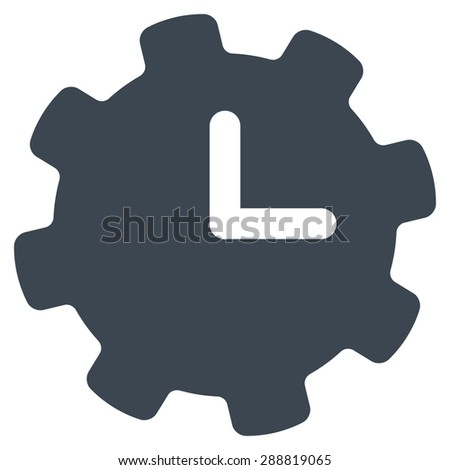 Time settings icon from Business Bicolor Set. This flat raster symbol uses smooth blue color, rounded angles, and isolated on a white background. - stock photo