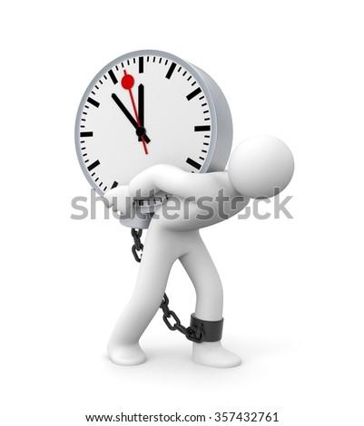 Time slave - stock photo