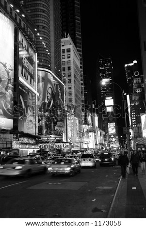 Time Square, New York by night