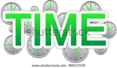 Time text banner - stock photo