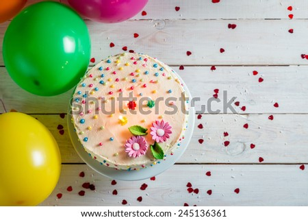 Time to blow out the candles in birthday party - stock photo