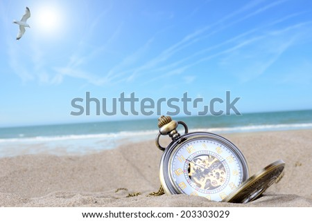 Time to book your holiday concept - stock photo