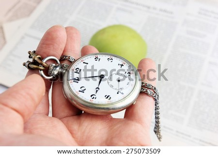 Time to change or Do not waste your time, Time management, Time is money, Clock face - stock photo