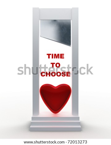 time to choose (relations concept) - stock photo