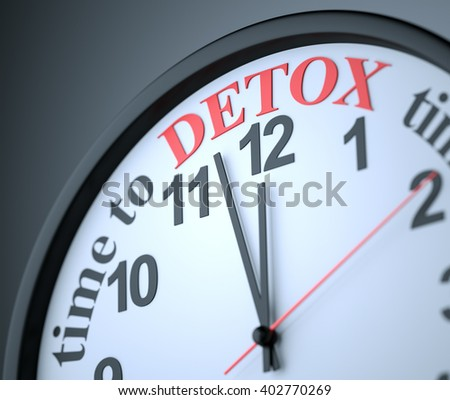 Time to Detox , 3d render - stock photo