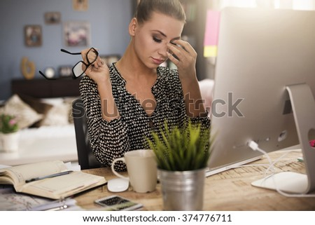 Time to finish work for today - stock photo