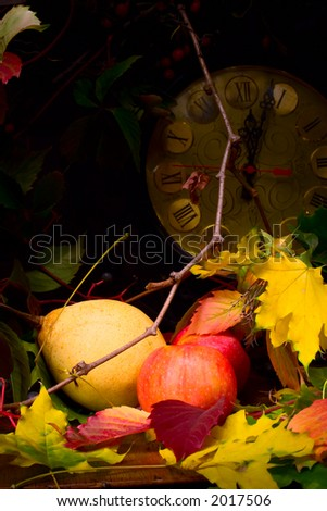 time to gather in the harvest - stock photo