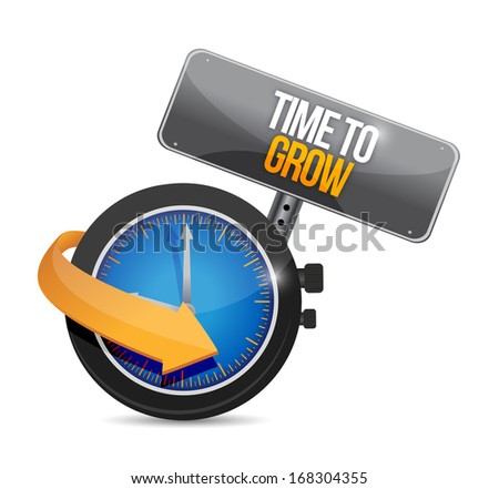 time to grow watch illustration design over a white background - stock photo