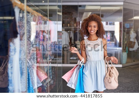 Time to hit another sale at the shopping mall - stock photo