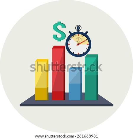 Time to Invest .Stock Market Chart - stock photo