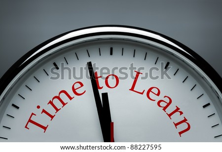 Time to learn conceptual image - stock photo