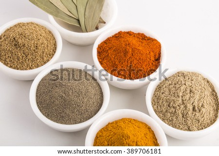 Time to make that curry with spices - stock photo
