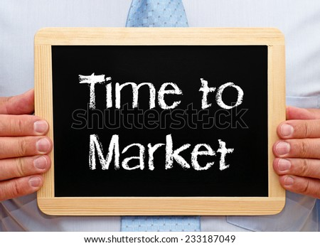 Time to Market - Businessman with Chalkboard