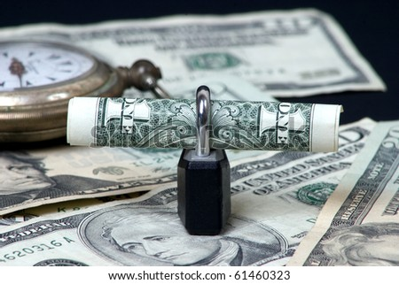 time to secure your money - stock photo