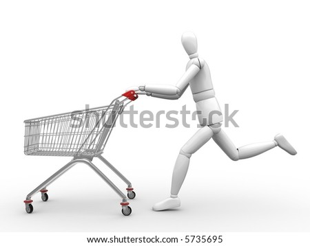Time to shopping - stock photo