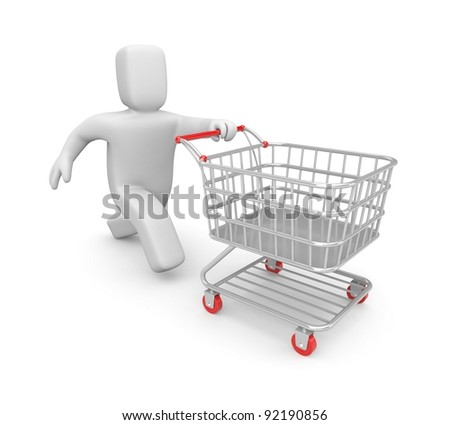 Time to shopping. Image contain clipping path - stock photo