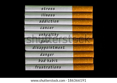 Time to stop smoking cigarette  - stock photo