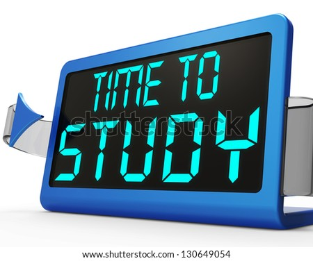 Time study message show education studying stock illustration time to study message show is education and studying altavistaventures Choice Image