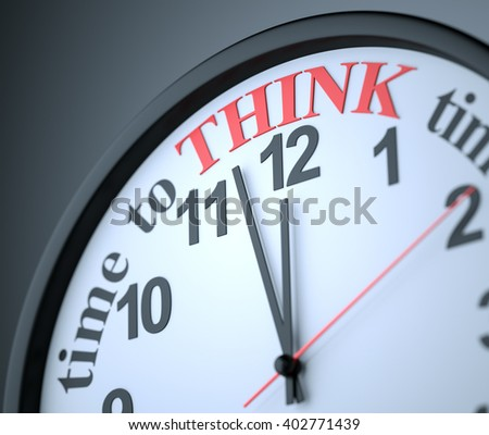 Time to Think , 3d render - stock photo