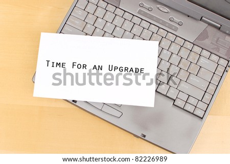 Time To Upgrade Your Old PC - stock photo