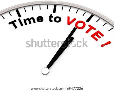 TIME TO VOTE - stock photo