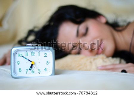 Time to wake up. - stock photo